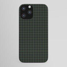 Houndstooth (black + dark green) iPhone Case