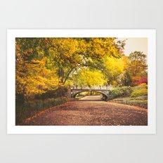 Autumn Path - Central Park - New York City Art Print