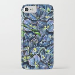 Realistic Hydrangea Drawing iPhone Case