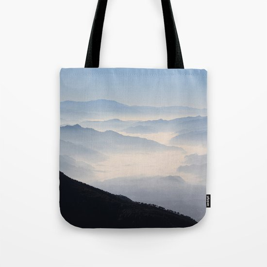 Blue Valley #mountains Tote Bag