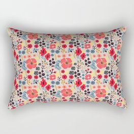 Summer Flowers - Pattern Rectangular Pillow