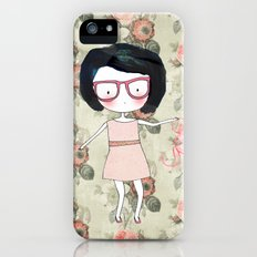Nerdy girl iPhone (5, 5s) Slim Case