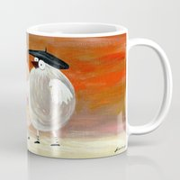 couple Mugs featuring couple by Bunny Noir
