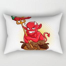 Devil with Hot Chili Pepper Cartoon Rectangular Pillow