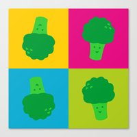 popart Canvas Prints featuring Popart Broccoli by XOOXOO
