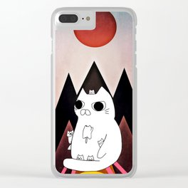cat mountain 240 Clear iPhone Case
