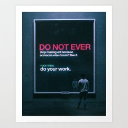 PLEASE SHARE. (everyday 11.28.18) Art Print