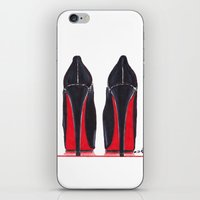 heels iPhone & iPod Skins featuring Mighty Heels by anna hammer