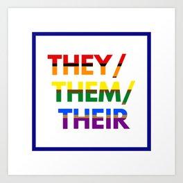 Gay Nonbinary Pride Art Print