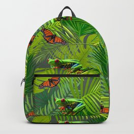 Frogs and Monarchs Backpack
