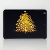 christmas tree iPad Cases featuring Christmas tree by valzart