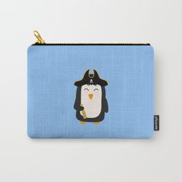 Penguin Pirate Captain T-Shirt for all Ages Dwfb5 Carry-All Pouch