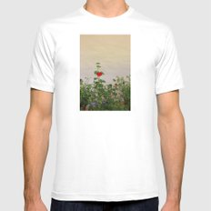 Geraniums (Pelargonium) #11 Mens Fitted Tee MEDIUM White