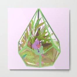 Succulent Terrarium  Metal Print