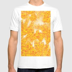 Golden Pebbles White Mens Fitted Tee MEDIUM