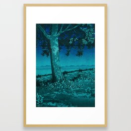 Nightime in Gissei Framed Art Print