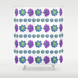Blue and Purple Pattern Shower Curtain