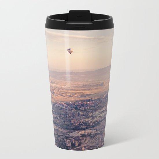 Sunrise Hot Air Balloon Flight Metal Travel Mug