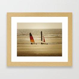 char à voile Nord Framed Art Print