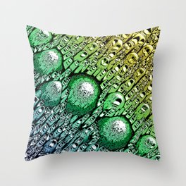 Gradient of Chaotic Shapes Throw Pillow
