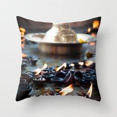 Divine Diyas Throw Pillow
