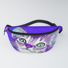 abyssinian cat kitten vector art Fanny Pack