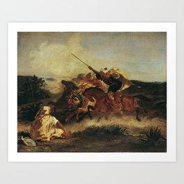 """Eugène Delacroix """"Fantasia Arabe"""" Art Print"""
