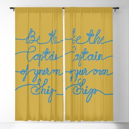 Be the Captain of your own Ship (Yellow and Blue) Blackout Curtain