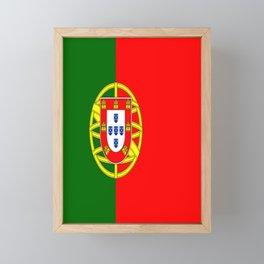 flag of portugal -Portuguese,mirandese,Portugués,lisbon,porto. Framed Mini Art Print