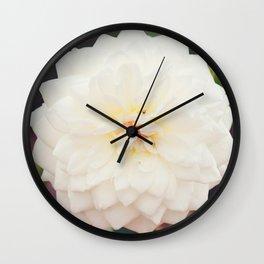White Petals Wall Clock
