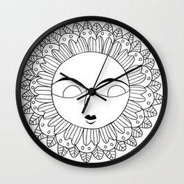 Flower Face 2 Wall Clock