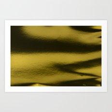Golden metal Art Print