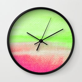 Rhubarb Colors  Wall Clock