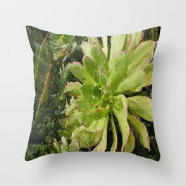 Green Finery Throw Pillow