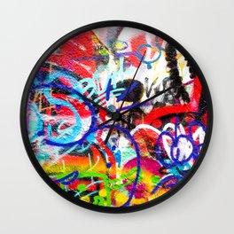 Crazy Graffiti  Wall Clock