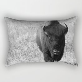 Bison - Monochrom Rectangular Pillow