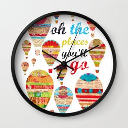 Oh The Places You'll Go, Print Wall Clock