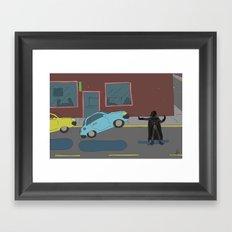 Darth Vader traffic Framed Art Print