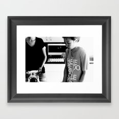 there are too many people here. Framed Art Print