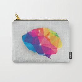 Geometric brain Carry-All Pouch