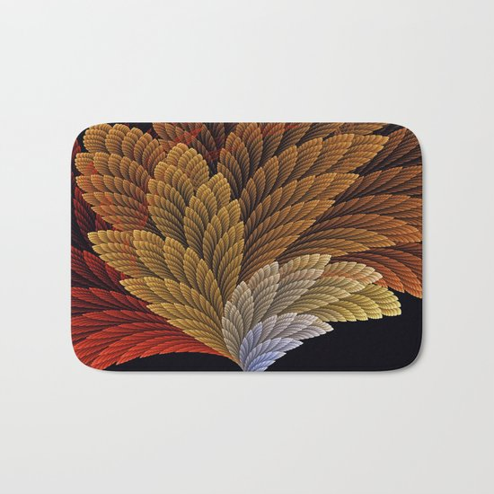 Decorative featherly pattern fan Bath Mat