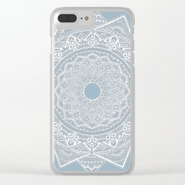 Dedication to Dalton (gray-blue) Clear iPhone Case