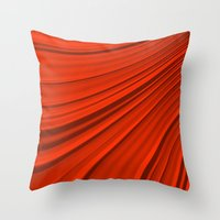 renaissance Throw Pillows featuring Renaissance Red by Charma Rose
