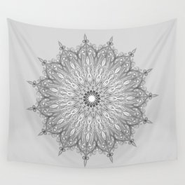 Gray Swirl Mandala light gray Wall Tapestry