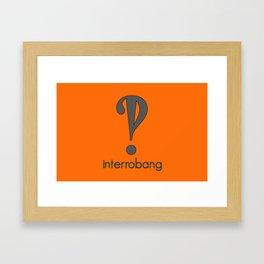 Interrobang, Serif Framed Art Print