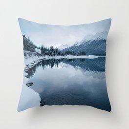 Spray Lakes Throw Pillow