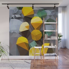 lemonade abstract geometrical art Wall Mural