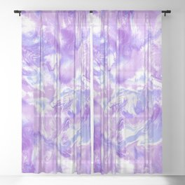 Marble Mist Lilac Sheer Curtain