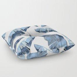 Banana Leaves 2 Blue Floor Pillow