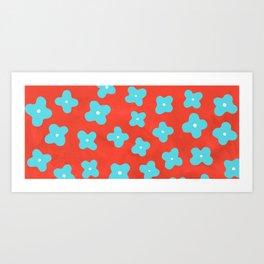 Hydrangea in Coral Art Print